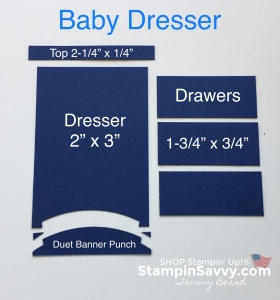 stampin up baby boy card, diy dresser pieces, stampin savvy, tammy beard