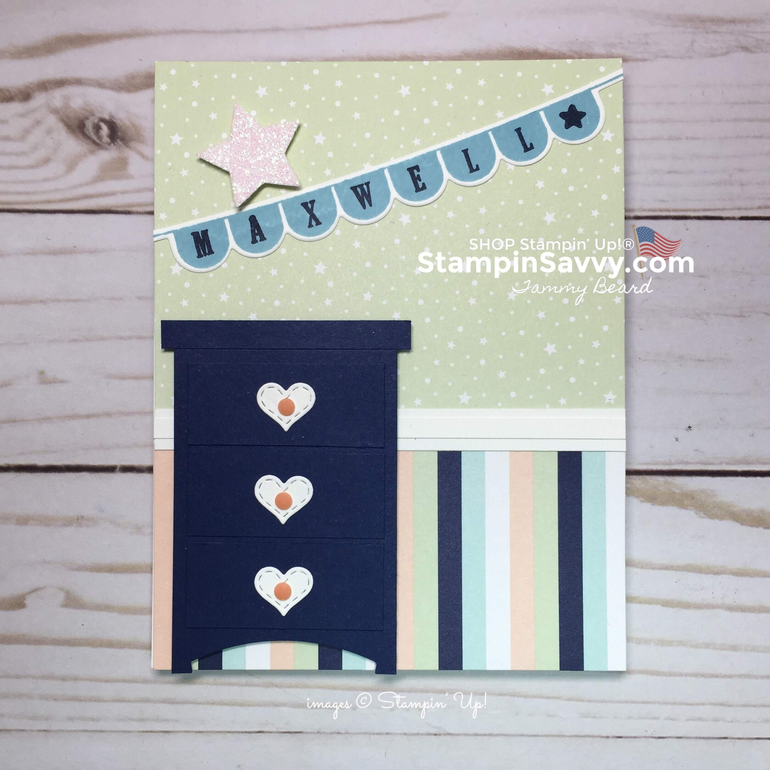 stampin up baby boy card ideas, stampinup, stampin savvy, tammy beard