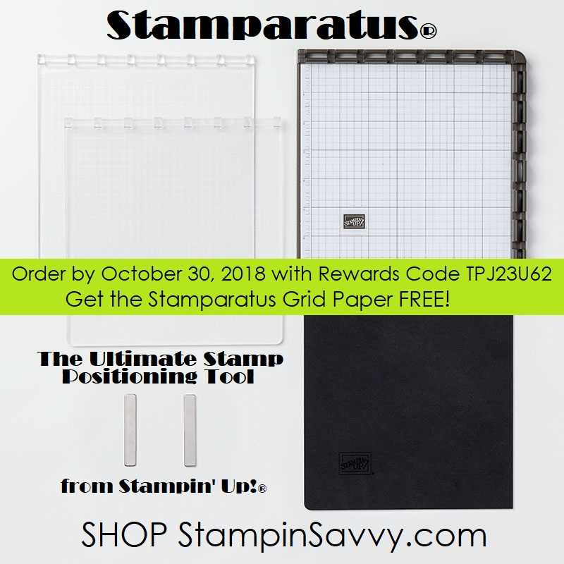 stamparatus special offer from stampin savvy