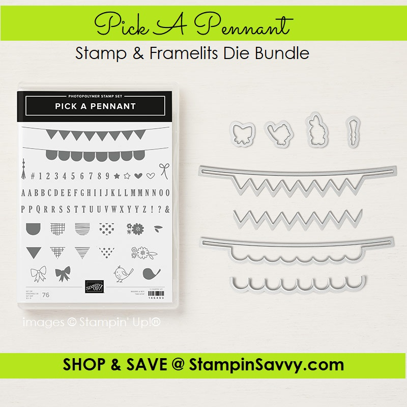 148393, pick a pennant bundle, stampin up, stampin savvy, tammy beard