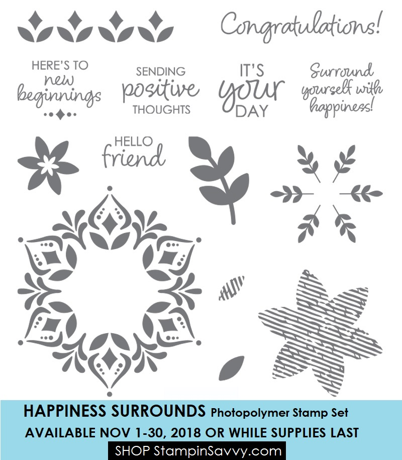 149744, happiness surrounds, stampin up, stampinup, stampin savvy, tammy beard