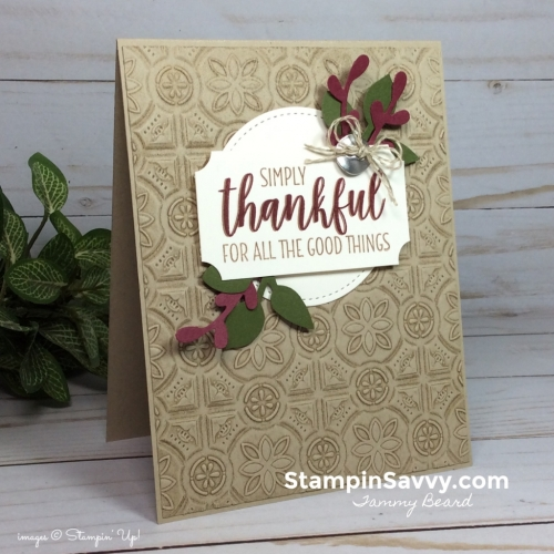 add texture to cards, card ideas, country home, stampin up, stampinup, stampin savvy, tammy beard