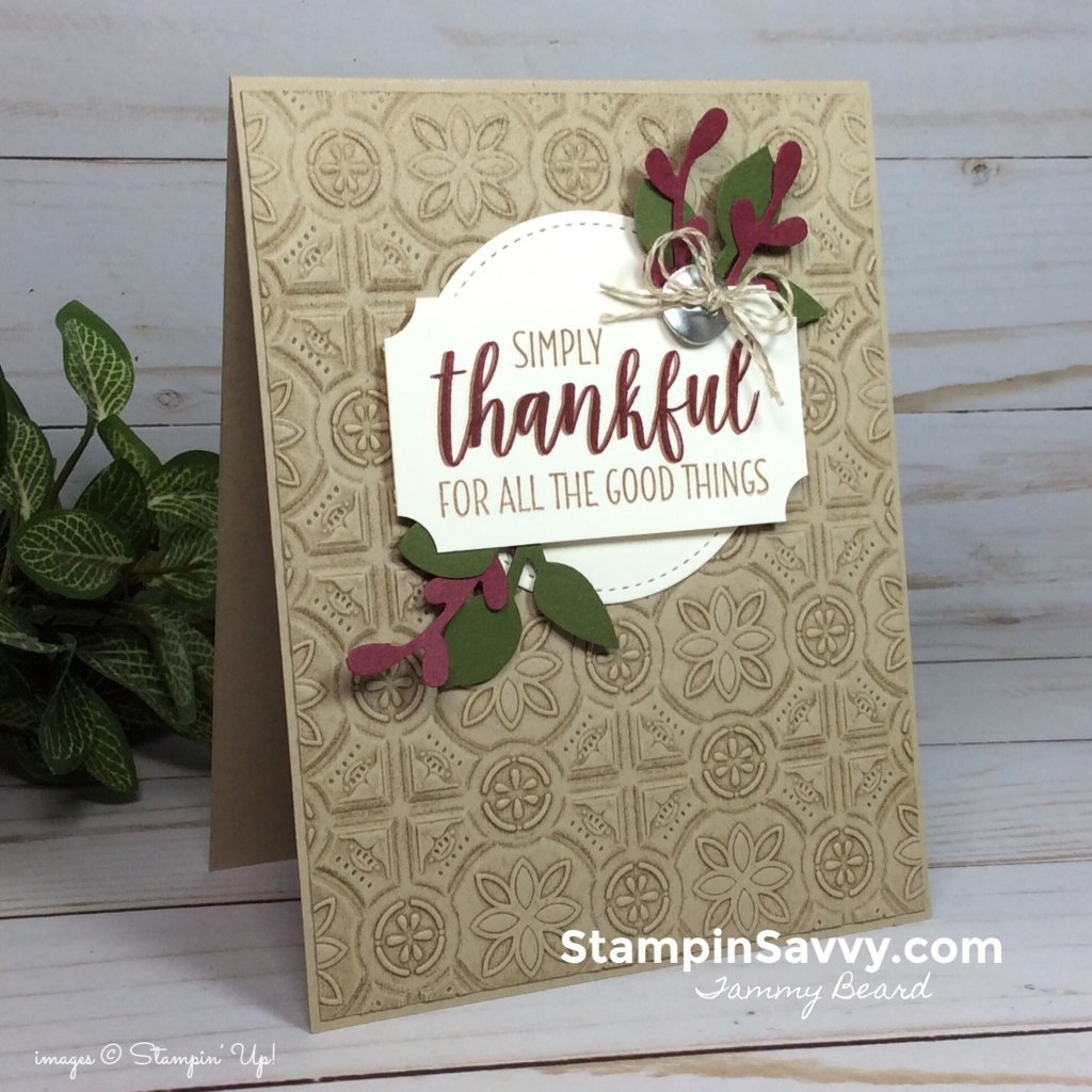 Add Texture To Cards Card Ideas Country Home Stampin Up Stampinup