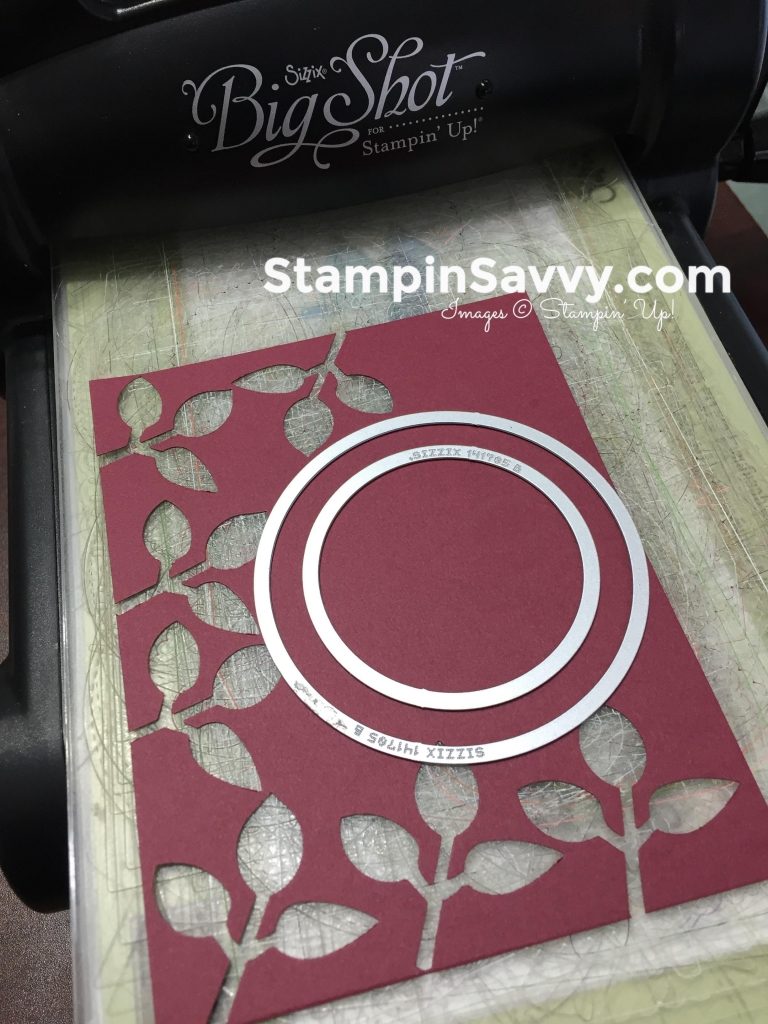 cards with punches, layering circles dies, big shot, stampin up, stampinup, stampin savvy, tammy beard