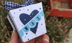 diy baby gift box, stampin up, twinkle twinkle dsp, takeout treats, stampin savvy, tammy beard