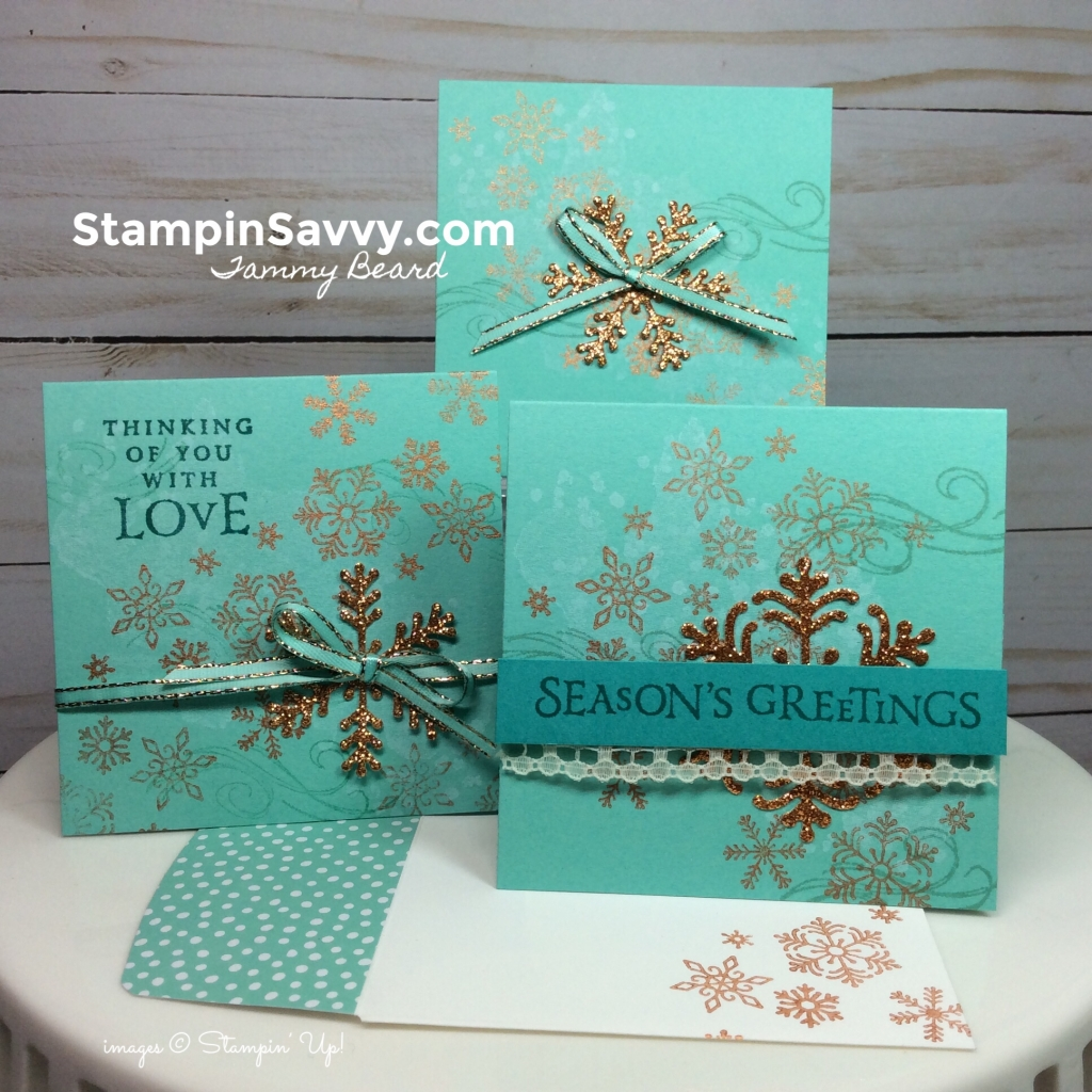 shimmer paint, beautiful blizzard bundle, mini cards, card ideas, stampin up, stampinup, stampin savvy, tammy beard