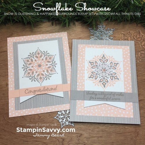 snowflake showcase, stampin up, card ideas, stampinup, stampin savvy, tammy beard