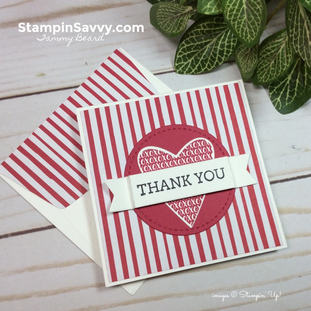 takeout treats bundle, stampin up, mini card ideas, thank you card, stampinup, stampin savvy, tammy beard