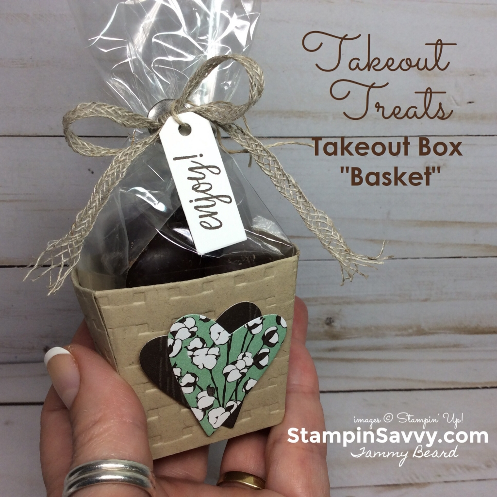 takeout-treats-takeout-box-basket-weave-embossing-folder-country-lane-dsp-stampin-up-stampin-savvy-tammy-beard