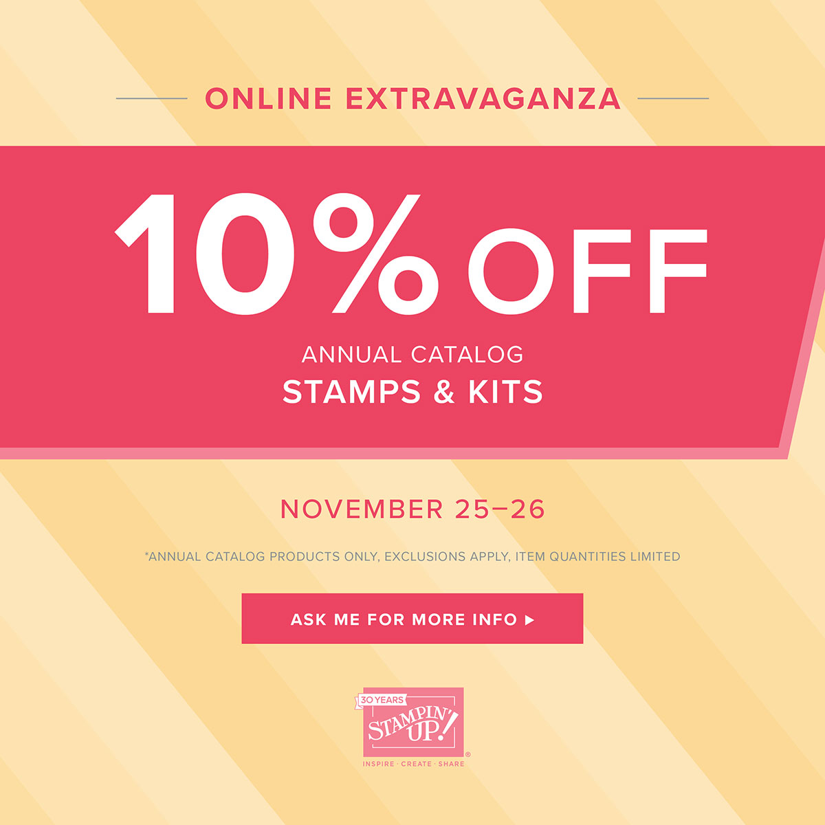 Online Extravaganza Nov 25, 26 2018