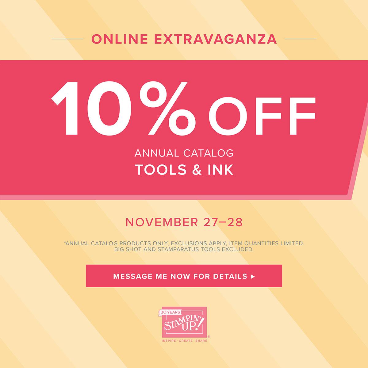 Online Extravaganza Nov 27, 28 2018