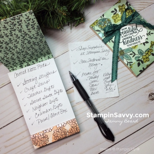 diy notepad holders, share what you love, stampin savvy, stampin up, tammy beard