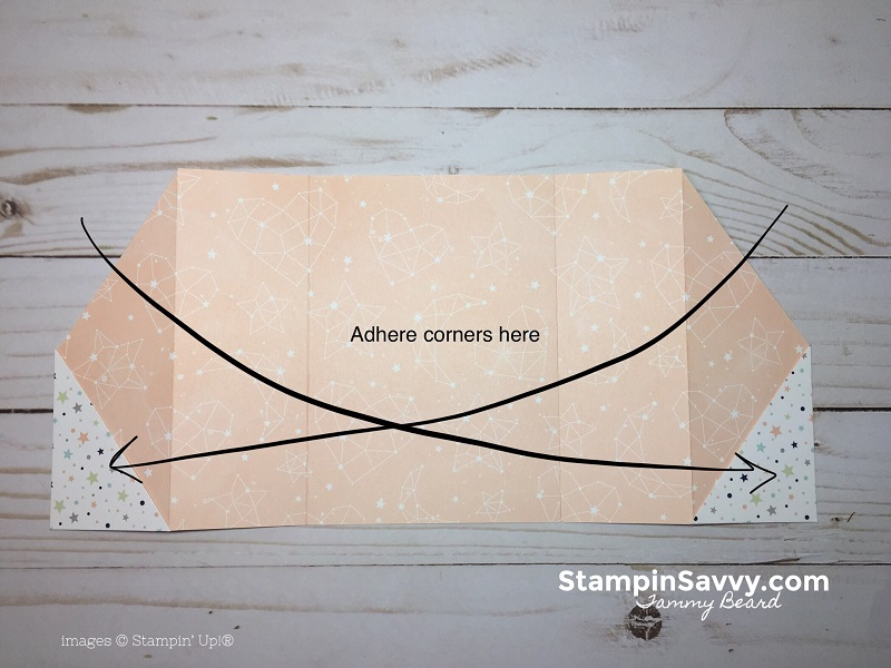 double gate fold card tutorial, 2, twinkle, twinkle dsp, stampin savvy, stampin up, tammy beard