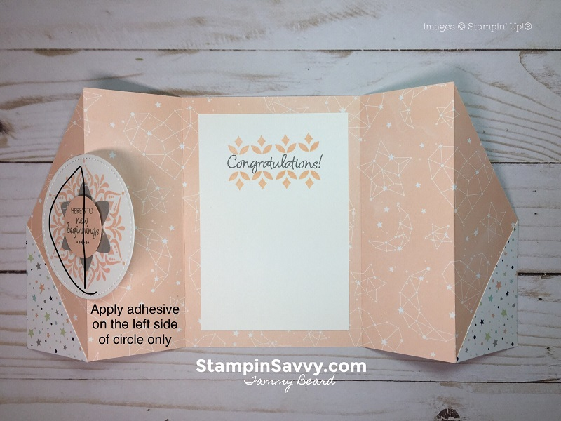 double gate fold card tutorial, 3, twinkle, twinkle dsp, stampin savvy, stampin up, tammy beard