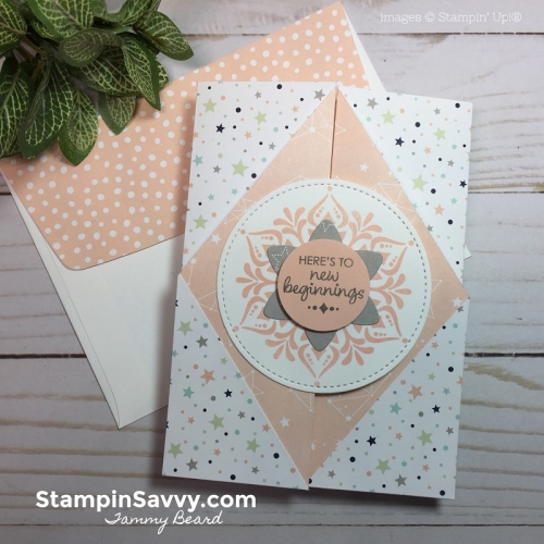 double gate fold card tutorial, baby card ideas, twinkle, twinkle dsp, stampin savvy, stampin up, tammy beard
