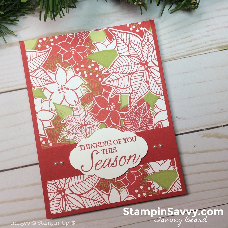easy designer paper cards, merry mistletoe dsp, stampin up, stampin savvy, tammy beard