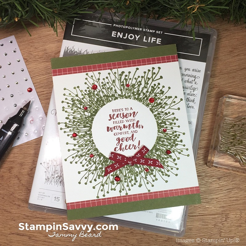enjoy life card, stampin up, stampinup, stampin savvy, tammy beard