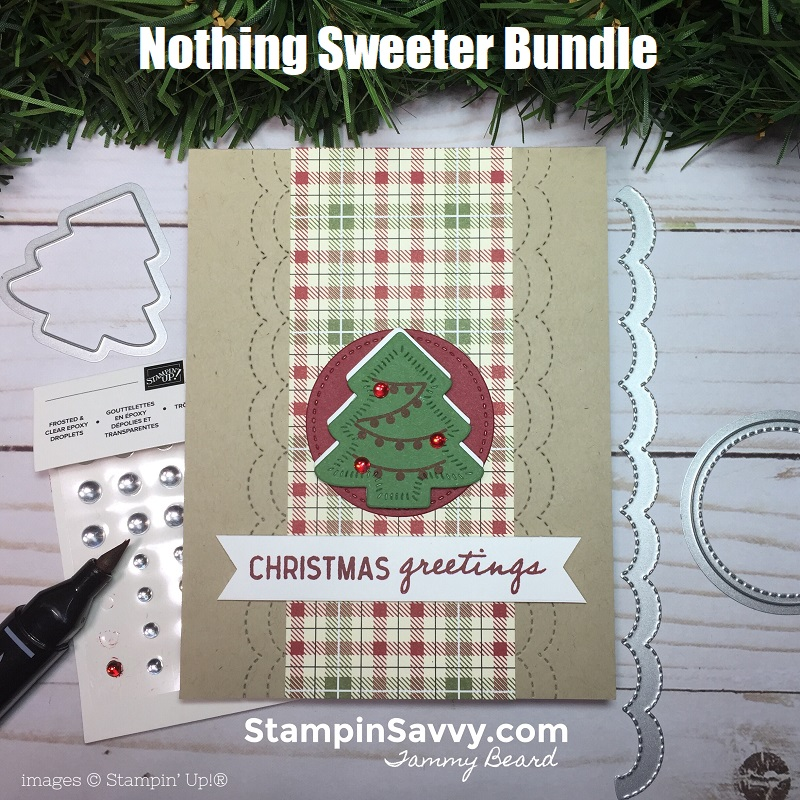 nothing sweeter bundle, simple christmas card ideas, stampin up, stampinup, stampin savvy, tammy beard