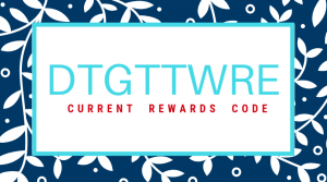 rewards code dtgttwre