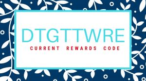 rewards code dtgttwre