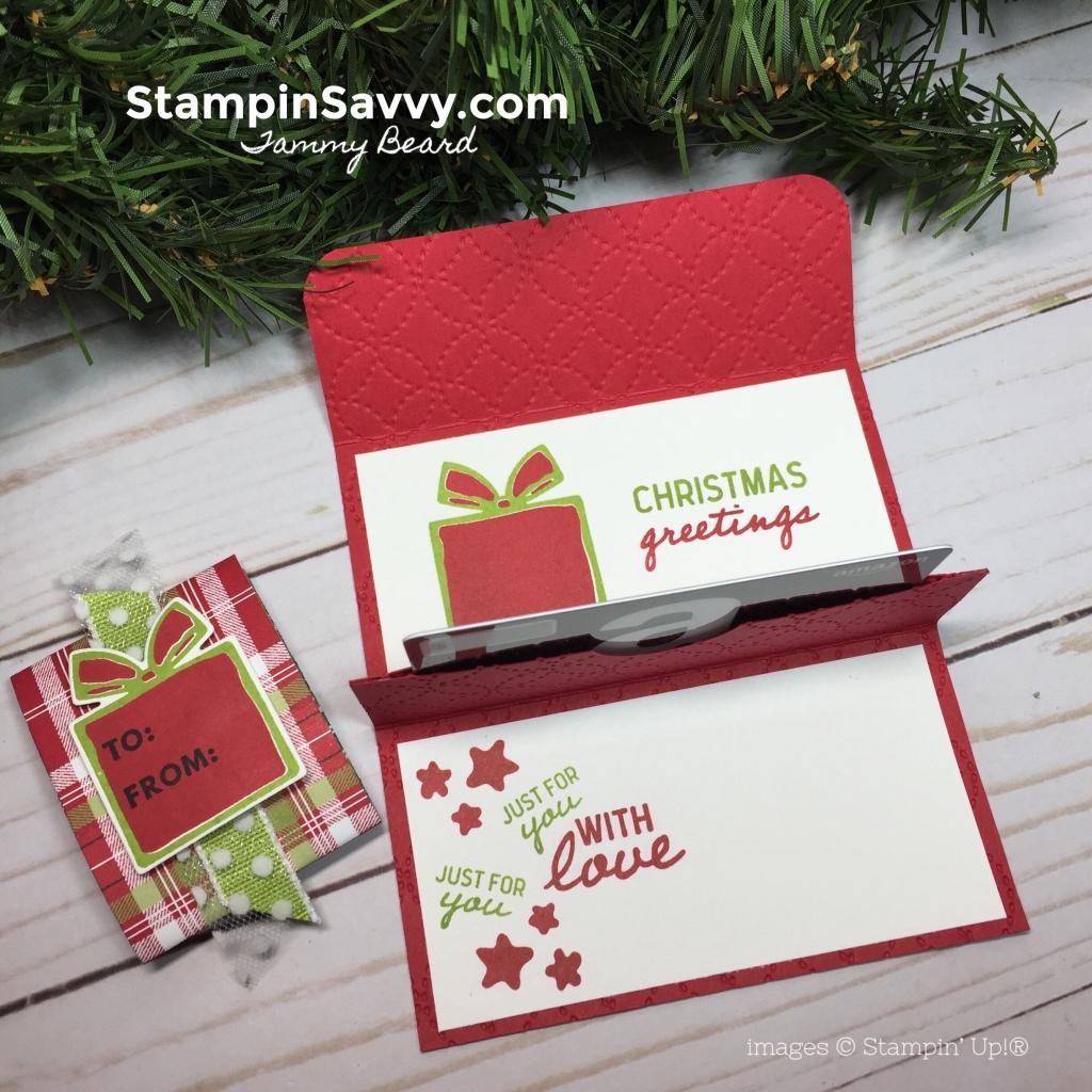 pop up gift card holder, nothing sweeter bundle, stampin up, stampin savvy, tammy beard
