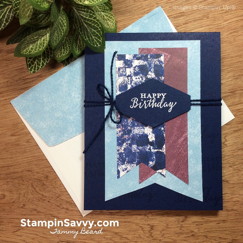 quick cards for men, tranquil textures dsp, stampin up, stampin savvy, tammy beard, 2