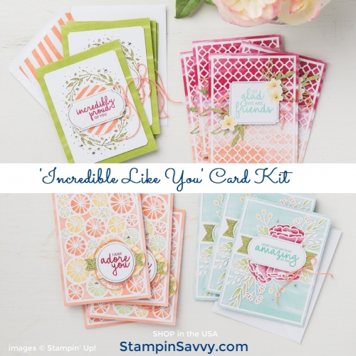 148552O1, incredible like you card kit, stampin up, stampin savvy, tammy beard