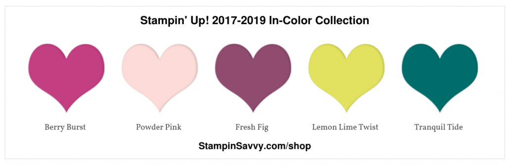 Stampin' Up! 2017-2019 In-Color Collection