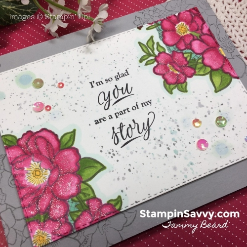 lovely lattice, part of my story, stampin up, stampin savvy, tammy beard 1