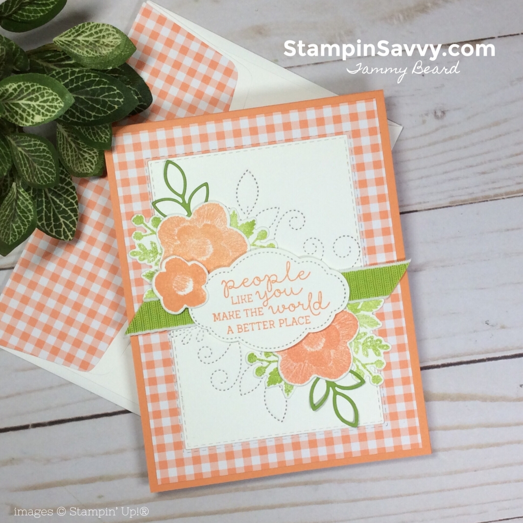 needle and thread bundle, stampin up, gingham gala, stampin savvy, tammy beard 1