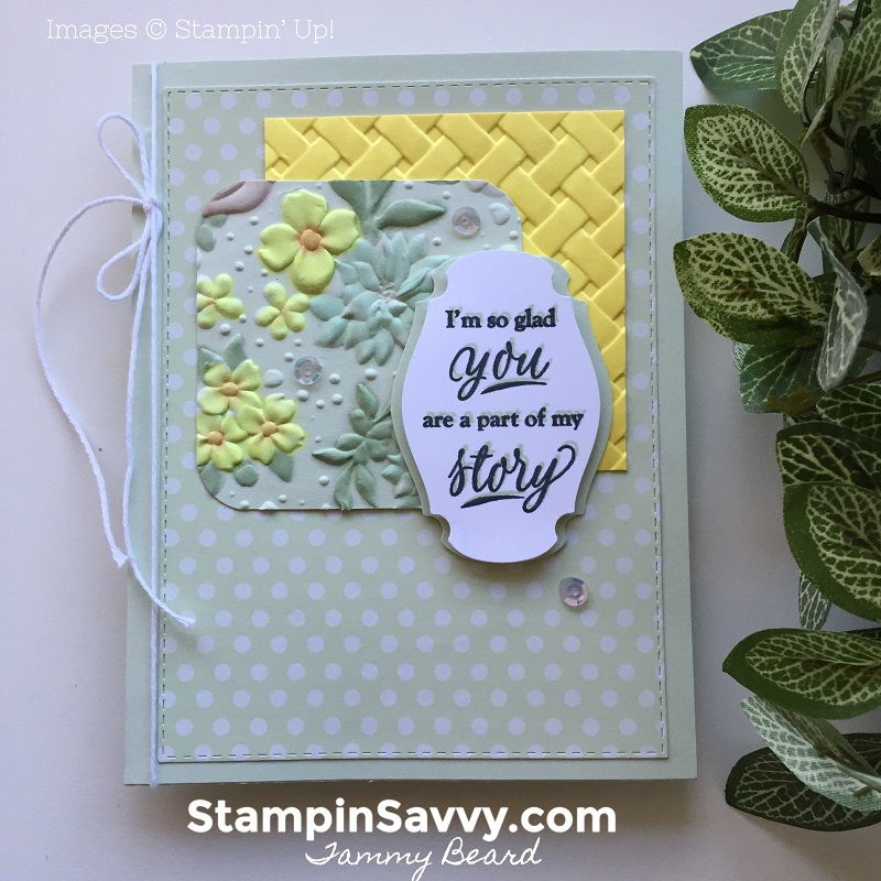 country-floral-basket-weave-embossing-folder-part-of-my-story-story-label-punch-soft-sea-foam-stampin-up-stampinup-stampin-savvy-tammy-beard