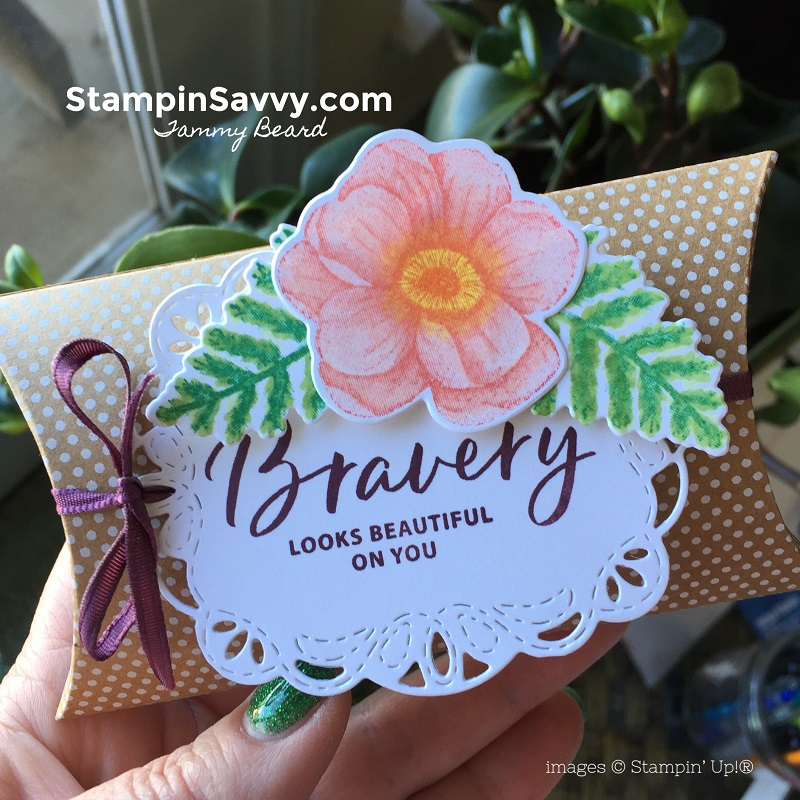 kraft-pillow-box-stitched-labels-dies-painted-seasons-february-reward-kit-stampin-savvy-stampin-up-tammy-beard