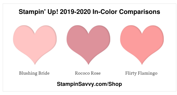 Stampin' Up! 2019-2020 In-Color Comparisons