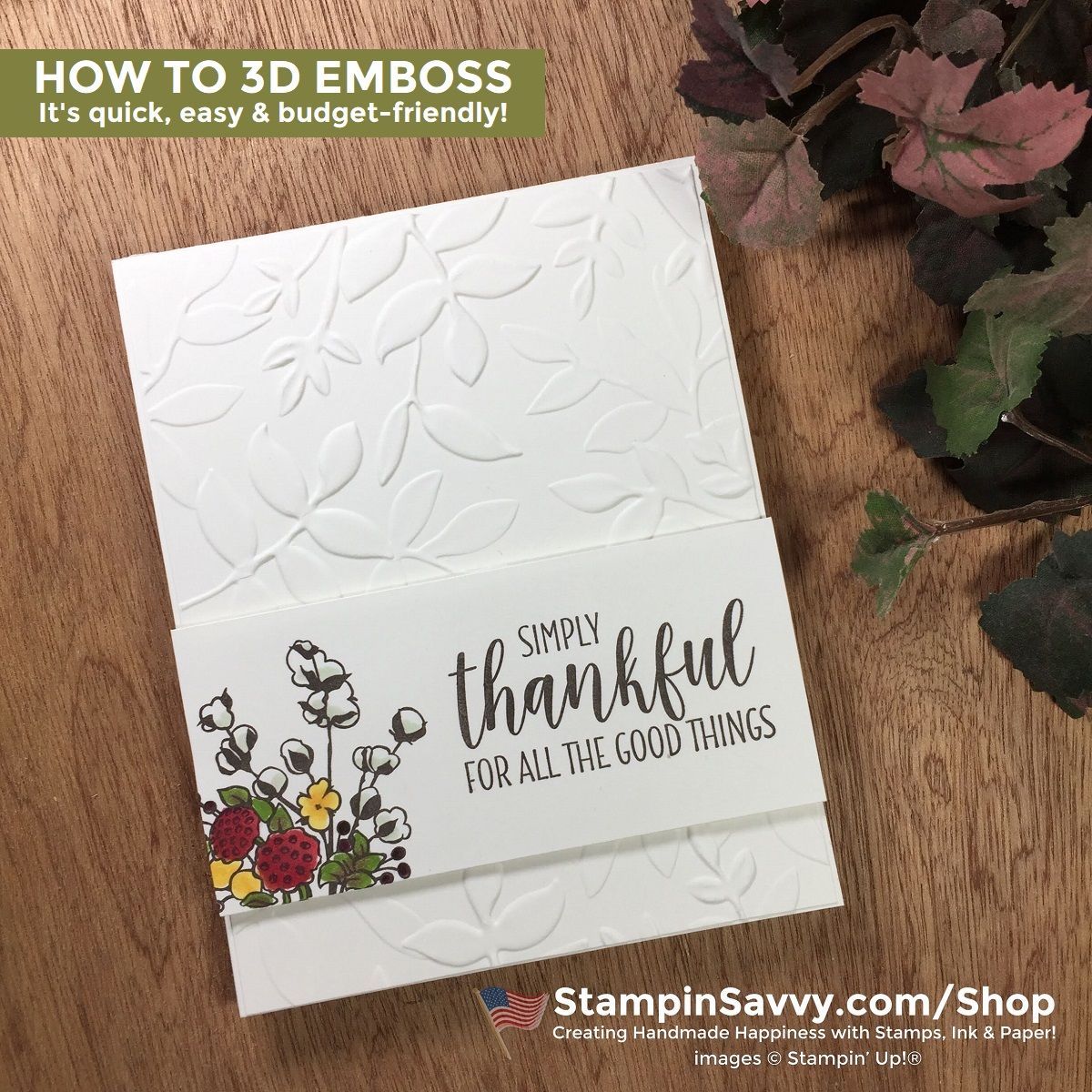HOW-TO-3D-EMBOSS-LAYERED-LEAVES-COUNTRY-LANE-STAMPIN-UP-TAMMY-BEARD-STAMPINSAVVY