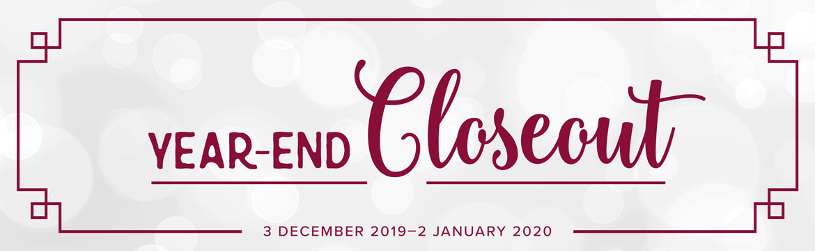 year-end stampin up! closeout dec 3, 2019 -jan 2, 2020
