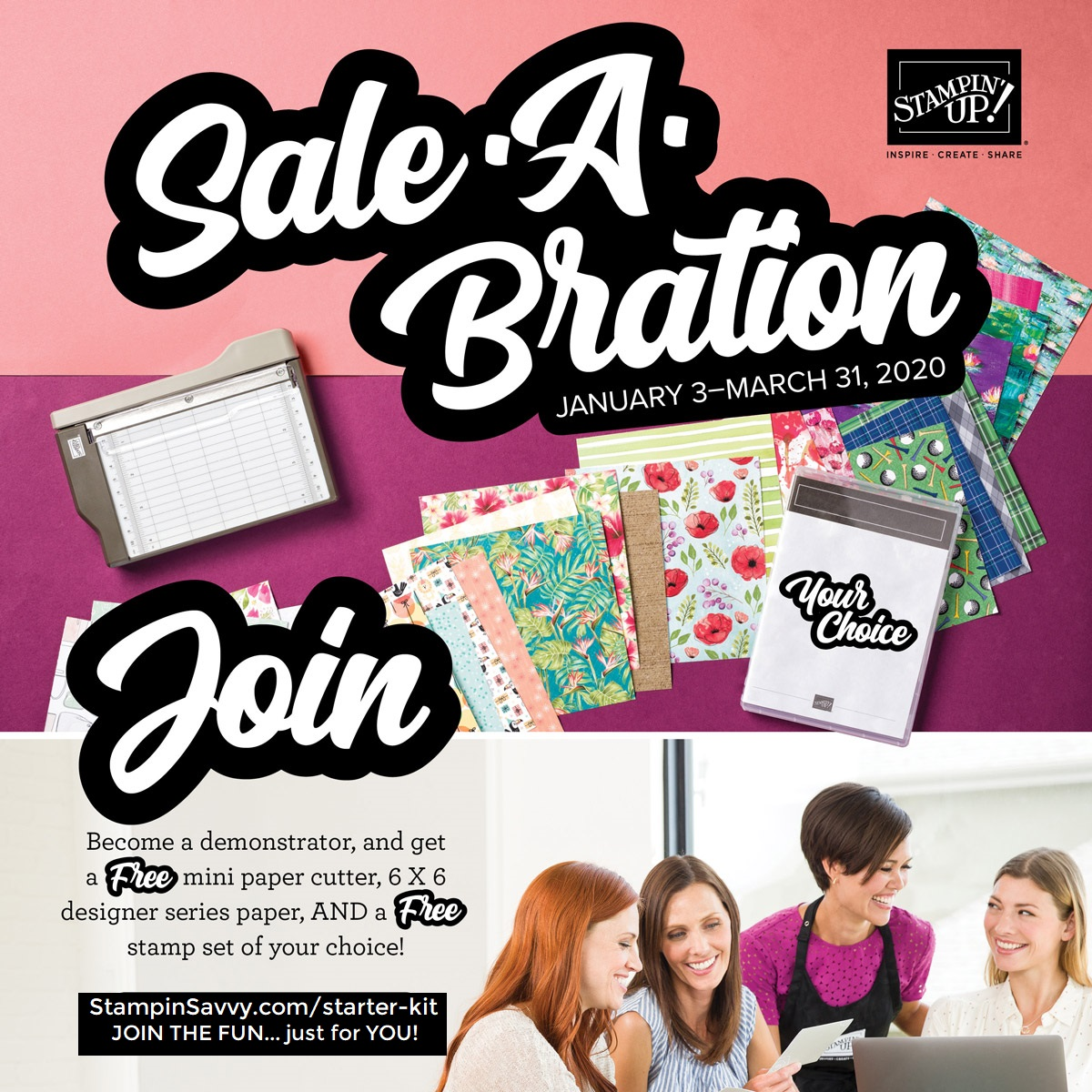 Sale-A-Bration Starter Kit Bonus- Order StampinSavvy.com/Starter-kit