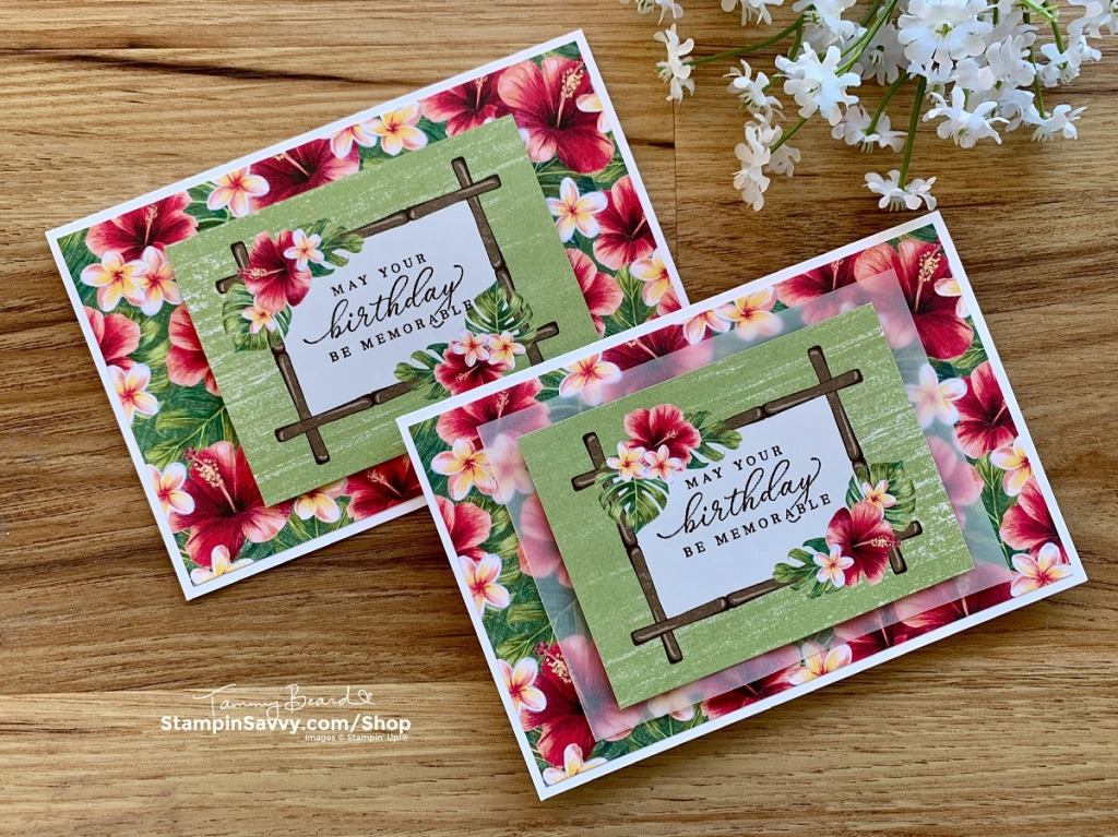 Tropical Oasis Memories & More Cards